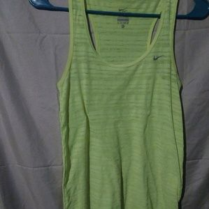 Yellow dry fit workout tank top